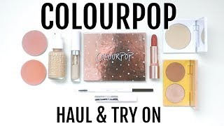 Trying ColourPop Makeup for the First Time! || Haul & Full Face of First Impressions
