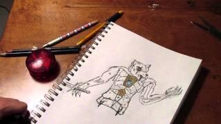 Sir Fangar Fan Art Speed Draw by DTinagliaStudios