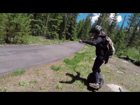 Electric Unicycling (ACM 1600Wh) from Downtown Winter Park up to Ski Area