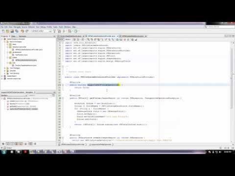 How to set JRDatasourceProvider and custom JRDatasource as