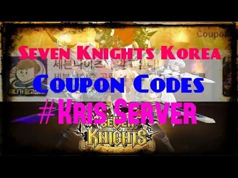 Seven Knights Korea Coupon Codes (Kris Server)