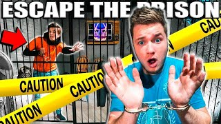 REAL LIFE 24 HOUR Prison ESCAPE ROOM CHALLENGE By THE MAN (Scary Challenge)
