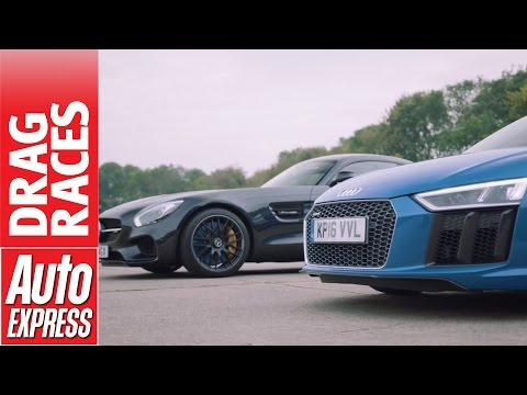 Mercedes-AMG GT S vs Audi R8 V10 drag race: German supercars face off!