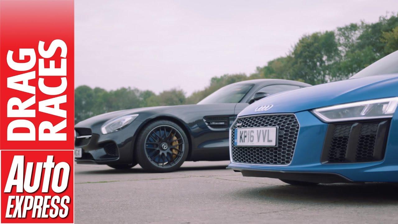 Mercedes Amg Gt S Vs Audi R8 V10 Drag Race German Supercars Face