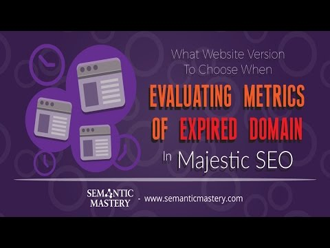 What Website Version To Choose When Evaluating Metrics Of Expired Domain In Majestic SEO?