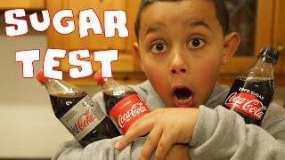 SUGAR TEST: Coca Cola vs Diet Coke vs Coca Zero (Science Experiments with Coca Cola)