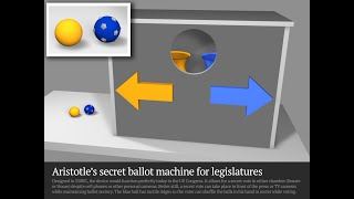 Designed 350bc, this device would function perfectly today in the us congress. it allows for a secret vote either chamber (senate or house) despite at...