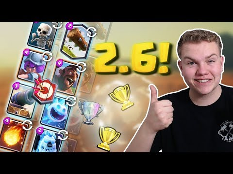 MASTER 1! 2.6 Super Quick Hog Cycle Deck LIVE Ladder Gameplay - Clash Royale