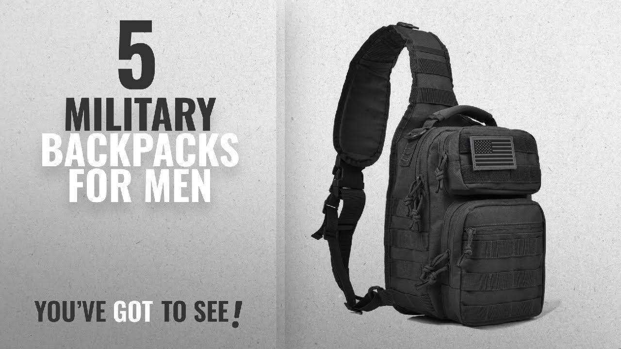 Military Backpacks For Men  2018 Best Sellers   Tactical Sling Bag ... 832794225c