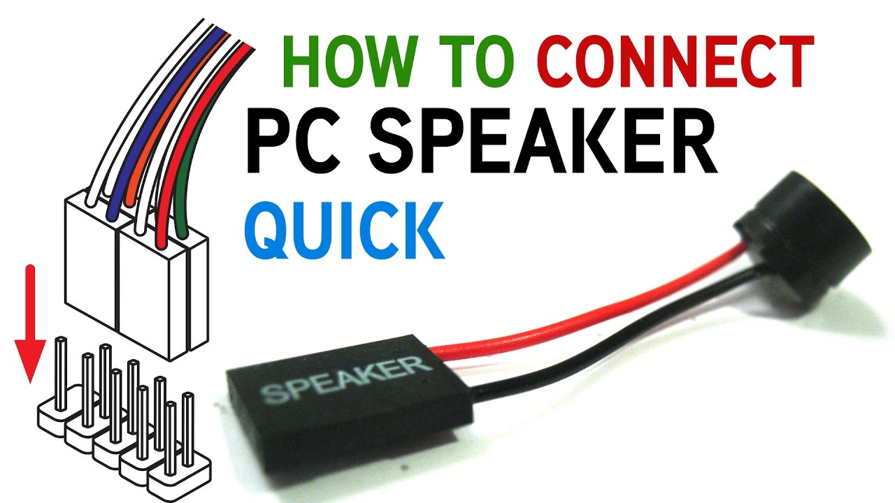 How to Connect a PC Speaker to Your Motherboard - YouTube