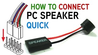 How to Connect a PC Speaker to Your Motherboard