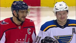 Александр Овечкин и Владимир Тарасенко (07.01.18) на матче Вашингтон – Сент-Луис...