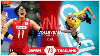 Japan vs Thailand | Match Highlights | Women's VNL 2019 (HD)