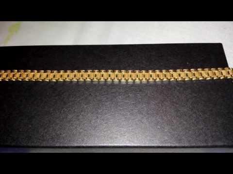 muy baratas modelos de gran variedad San Francisco Pulsera tejido rolex de oro - YouTube