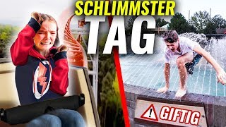 1 TAG JA SAGEN mit KLEINER SCHWESTER im Freizeitpark! (eskaliert komplett!)