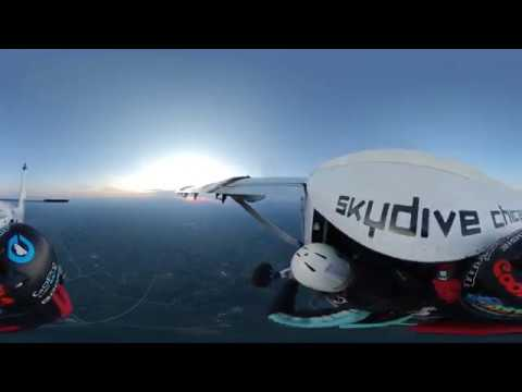 Twin Otter – 360° VR 5K Skydive Chicago Video 13000' Exit AFF Cat C