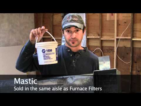 How to Seal an HVAC Duct with Mastic - Duct Sealant