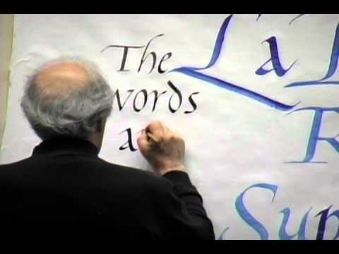 Robert Palladino Calligraphy Lecture and Demonstration