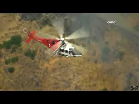 """Burbank, California 6-28-17  """"Verdugo Mountains Fire"""""""