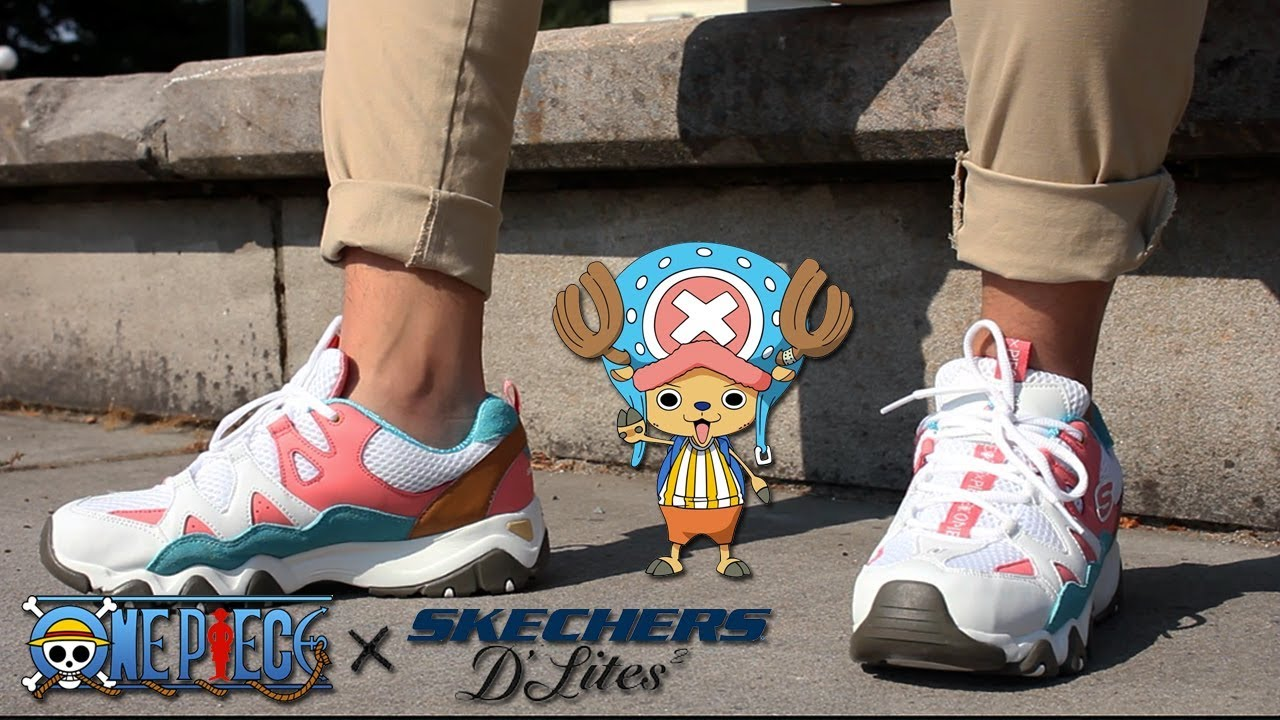 28450d851e35 One Piece x Skechers Tony Tony Chopper D Lites 2 - YouTube