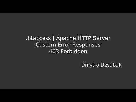 403 Forbidden   .htaccess, Test And Configure