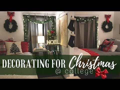 Decorating My College Dorm For Christmas A Very Festive Vlog Youtube