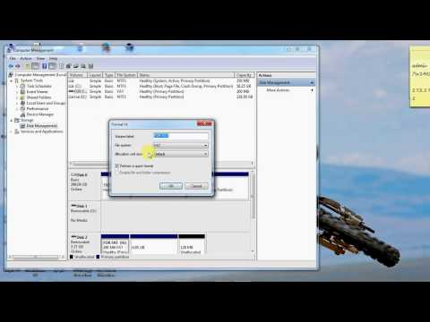 How To Format USB To NTFS,exFAT,FAT,FAT32 Using Windows 7 Disk Management