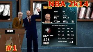 NBA2K14 para PC - Armador Atlético - EP01 - Estréia no Draft (Point Guard PG Athletic)