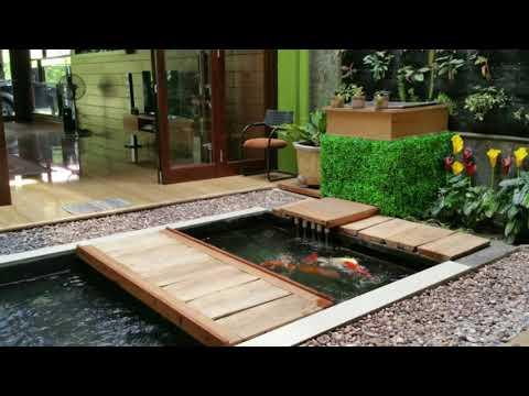 fresh! desain rumah minimalis dengan kolam ikan