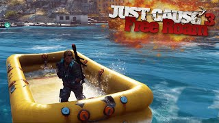SECRET INFLATABLE BOAT | Just Cause 3 Free Roam