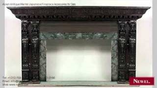 Asian Antique Mantel Japanese Fireplace Accessories For