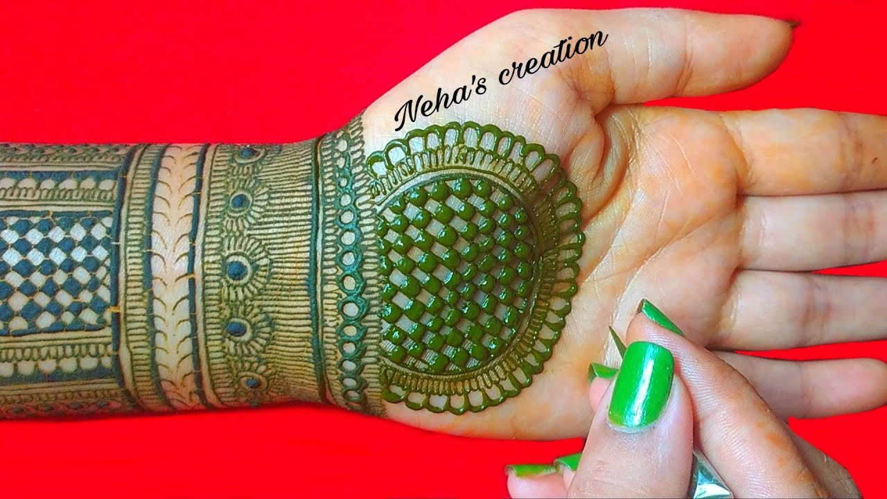 Semi bridal mehndi design ll full hand henna design ll easy full hand henna design for front hand #7