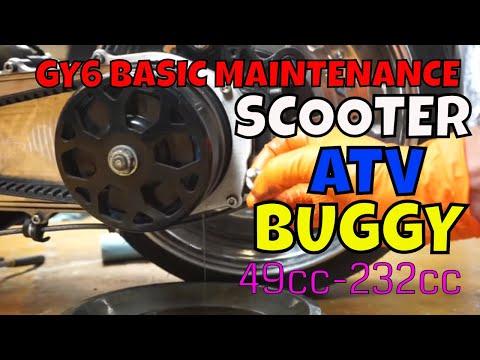 GY6 maintenance [oil change, spark plug, gear oil]