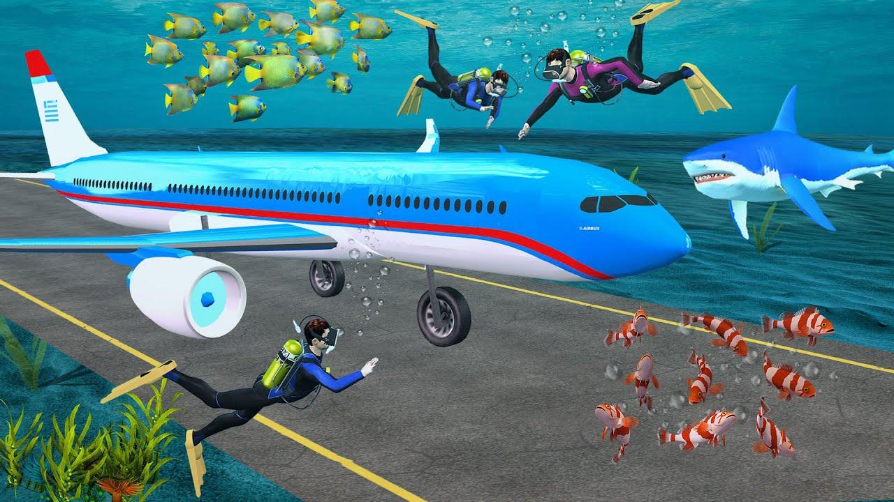 पानी के भीतर विमान Underwater Flight Comedy Video हिंदी कहानिया Hindi Kahaniya Comedy Hindi Stories