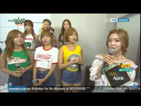 [Cut] 150731 Apink backstage interview @Music Bank
