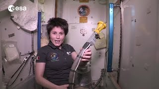 Astronaut Shows How to Use a Space Toilet | ISS Video