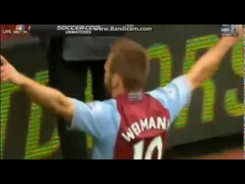 Aston Villa vs Man. City 3-2 Andreas Weimann Amazing Goal 28.09.2013.