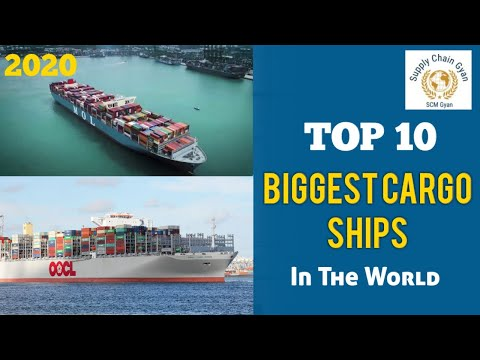 Top 10 Biggest Cargo Ships In The World   Largest Vessels (2020)