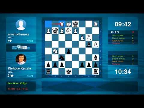 Chess Game Analysis: aravindhmazz - Kishore Kanala : 0-1 (By ChessFriends.com)