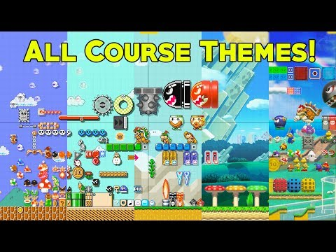 Super Mario Maker 2 - All Course Themes (All Objects, Enemies, & Items)