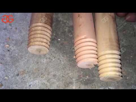 Wooden Broom Handle Screw Making Machine|Wood Stick Screw Making Machine