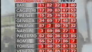estrazioni del lotto - raidue 16 aprile 1997
