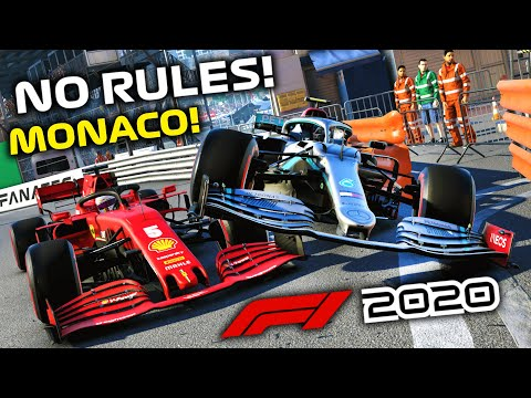 NO RULES RACING AT MONACO GP WAS CHAOS!   F1 2020 Online