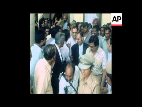 SYND 6 5 78 SANJAY GANDHI GOES TO PRISON