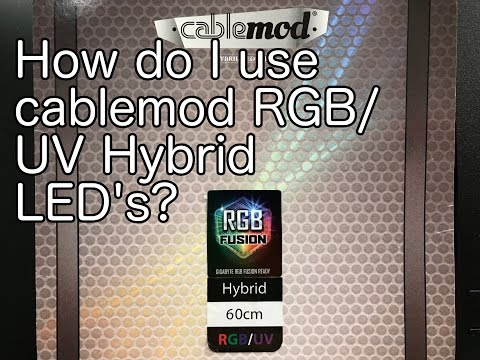 Overview and install of Cablemod widebeam RGB/UV hybrid LED Strips