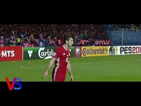 Мхитарян, удар и гол Армения Казахстан 1 : 0 26 03 2017