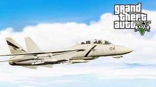 GTA 5 SP #16 - F-14 Tomcat Mod