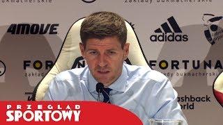 Steven Gerrard po meczu Legia - Rangers 0:0