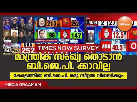 മാന്ത്രിക സംഖ്യ തൊടാൻ ബി.ജെ.പി. ക്കാവില്ല | ELECTION SURVEY 2019