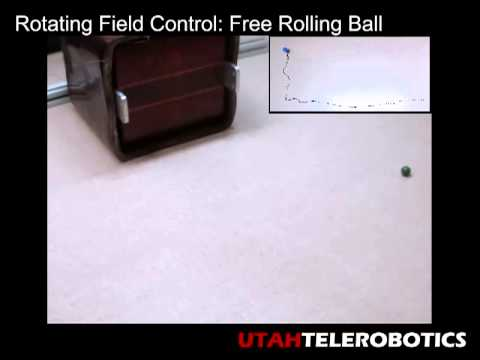 Utah Telerobotics: Omnimagnet Rolling Magnetic Ball on Table